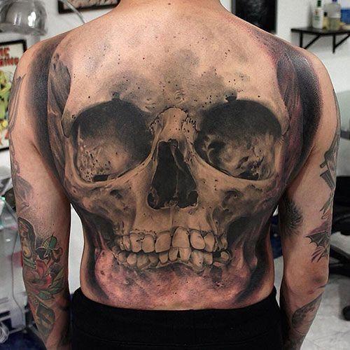 Awesome Full Back Skull Tattoo Designs Skull Tattoos For Men Best Skull Tatto Tattoos On Back Awesome Designs Tattoos Manner Tattoo Designs Schadel