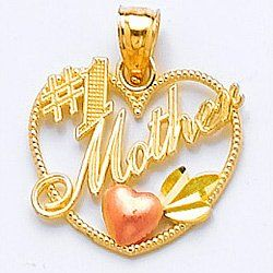14k Yellow and Rose Gold Talking Charm Pendant,