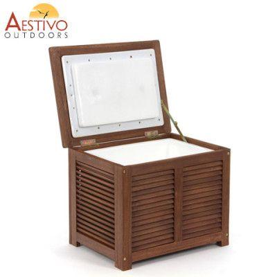 Hardwood Timber Ice Storage Box