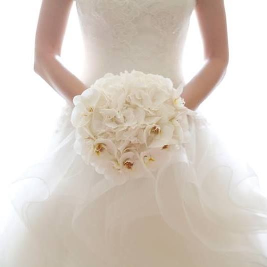 Bouquet Orchidee Sposa.Bouquet Sposa Ortensie E Orchidee Total White Wedding One