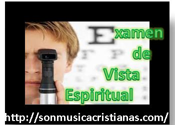 EXAMEN DE VISTA ESPIRITUAL