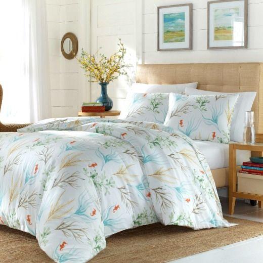 Coral Reef Print Bedding Ideas Shop The Look Duvet Cover Sets Comforter Sets Coastal Bedrooms