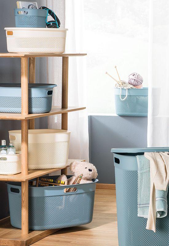 Verstauen Sie Kleinkram In Dekorativen Korben Und Boxen In 2020 Aufbewahrung Korb Aufbewahrungsbox