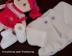 Aprendiz de Tricoteira: casaquinho e sapatinho