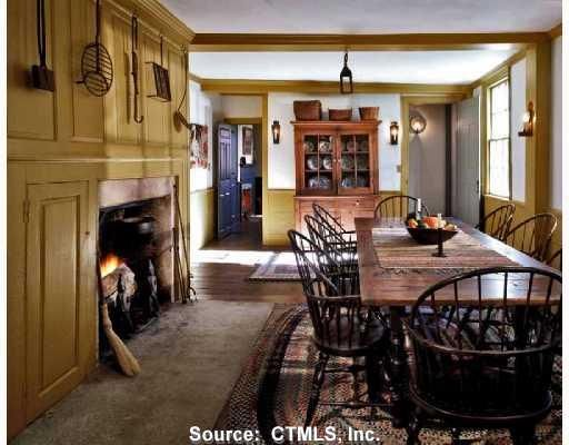 Colonial Keeping Room And Tables On Pinterest