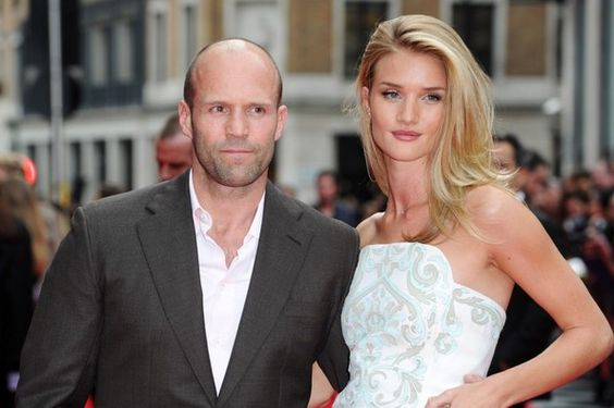 Red carpet arrivals at the 'Hummingbird' premiere in London on June 17, 2013. Here, Jason Statham and Rosie Huntington-Whiteley.
