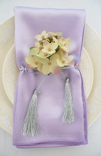 lavendar satin.