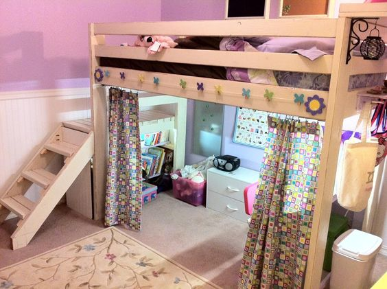 White loft bed loft beds and ana white on pinterest for Room design yourself