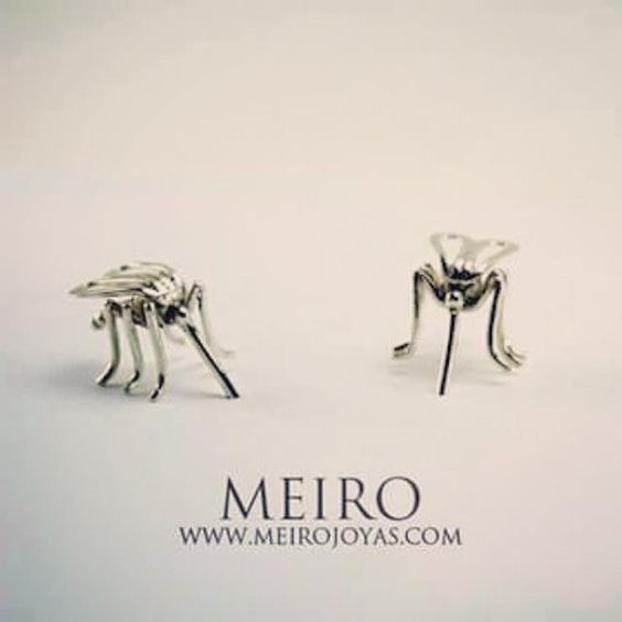 Mosquito earrings. Sterling silver. Fotos y videos de MEIRO JOYAS (@Meiro_joyas) | Twitter www.meirojoyas.com