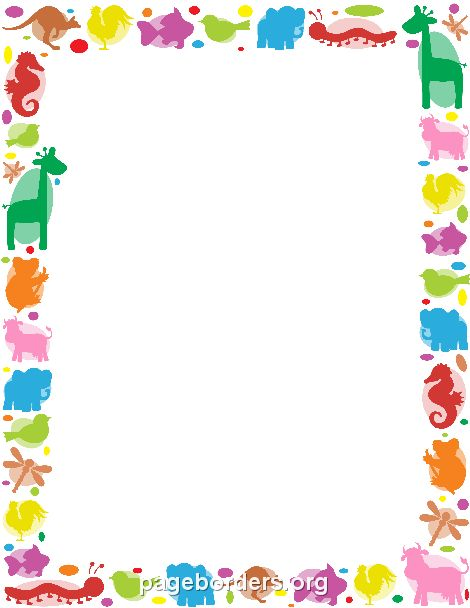 Printable animal border Use the border in Microsoft Word or other - downloadable page borders for microsoft word