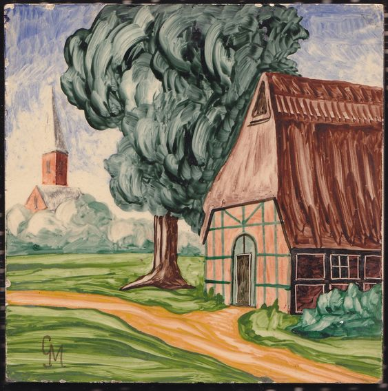 """V & B Dänischburg Tile – signed """"GM"""" – beautiful + rare – Villeroy und Boch – 1950s Fifties – Mid Century – Daenischburg von everglaze auf Etsy"""