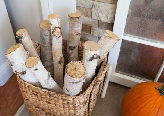 6 Birch Logs 20'' / White Birch Decor / Birch Fireplace Logs / Rustic Birc h Decor by OurLifeInTheWoods on Etsy https://www.etsy.com/listing/253253536/6-birch-logs-20-white-birch-decor-birch: