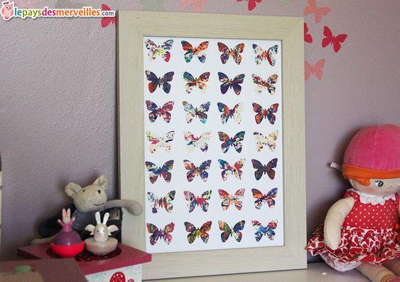 tableau papillon recup dessin enfant bricolages avec du papier pinterest papillons. Black Bedroom Furniture Sets. Home Design Ideas