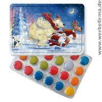 Leckerer Streuartikel für Weihnachten mit fröhlich bunten Schokolinsen oder Pulmoll.