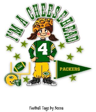 Denis bought our daughter Melissa the famous cheese head hat while he was in Green Bay Wis. a few years back.