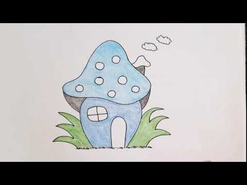 رسم سهل رسم منزل للاطفال طريقة رسم بيت للاطفال مع التلوين رسم كيوت رسومات سهله وجميله Youtube Cool Drawings Cute Drawings Butterfly Drawing