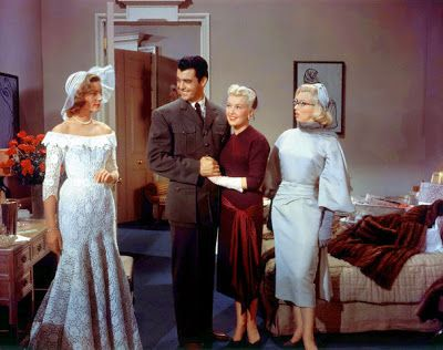 Lauren Bacall, Rory Calhoun, Betty Grable and Marilyn Monroe in HOW TO MARRY A MILLIONAIRE (1953).