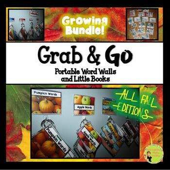 Portable word walls make it easy to differentiate for your little readers and writers! Grab & Go portable word walls are thematic and versatile. This bundle of the Grab & Go: Fall Editions is a perfect addition to your fall units! Use these portable word walls for sorting, writing, exploring a theme, word classification, writing workshop, and so much more!