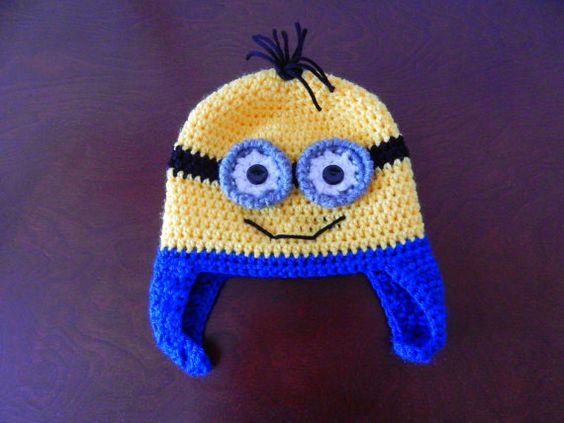 Minion Hat Photo Prop Two Eyes by MustLoveHats on Etsy, $18.00