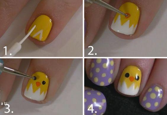 Cute nail art idea for Easter!