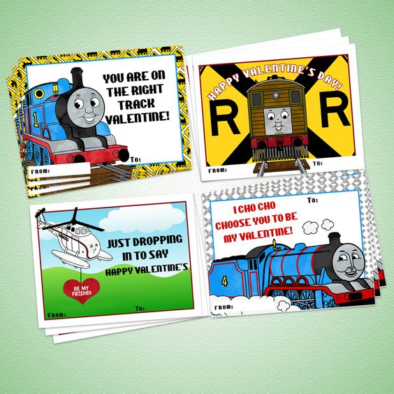 Printable Thomas the Train Valentine Cards by Eleven Eleven Pixel – Thomas Valentine Cards