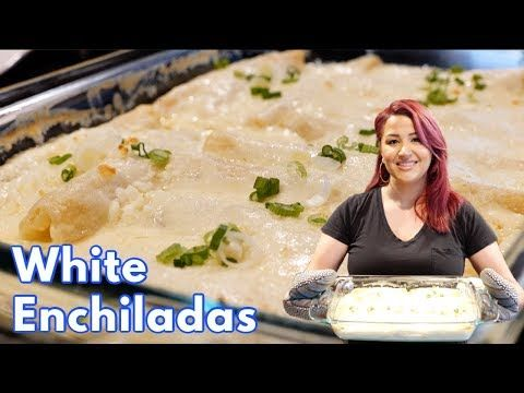How To Make The Best Creamy White Chicken Enchiladas Step By Step Recipe Youtube White Chicken Enchiladas White Enchiladas Recipe Sour Cream Chicken
