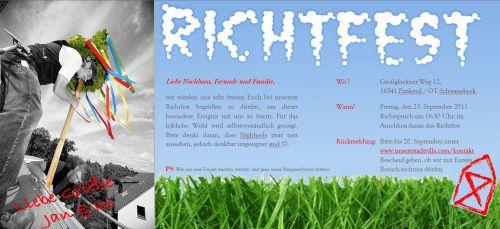 Einladung zum richtfest richtfest bau pinterest - Richtfest deko ...