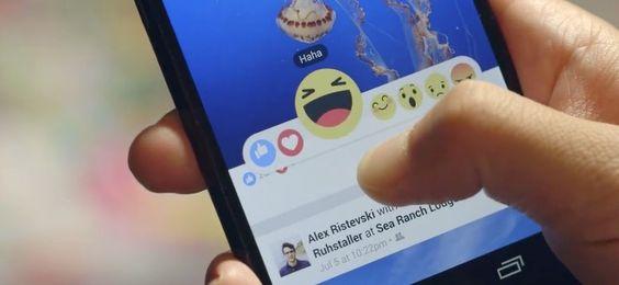 """Facebook Reactions statt Likes: der neue """"Gefällt mir"""" Button! - https://apfeleimer.de/2015/10/facebook-reactions-statt-likes-der-neue-gefaellt-mir-button - Daumen hoch für Facebook: Emoticons statt Like Button! Facebook überdenkt den Like Button neu und bringt mit Facebook Reactions dem Gefällt mit Button neue Funktionen bei. Der Ruf nach einer Möglichkeit, """"Gefällt mir nicht"""" in Facebook über einen """"Dislike Button"""" ausdr..."""