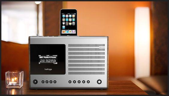 REVO Heritage Black radio & iPhone iPod speaker. JPY48,500,,