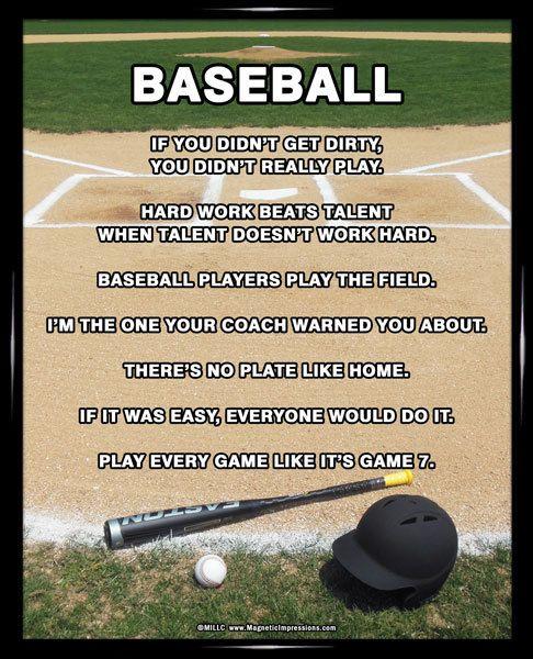 Baseball Field 8x10 Poster Print Baseball Quotes Baseball Humor Baseball Quotes Funny