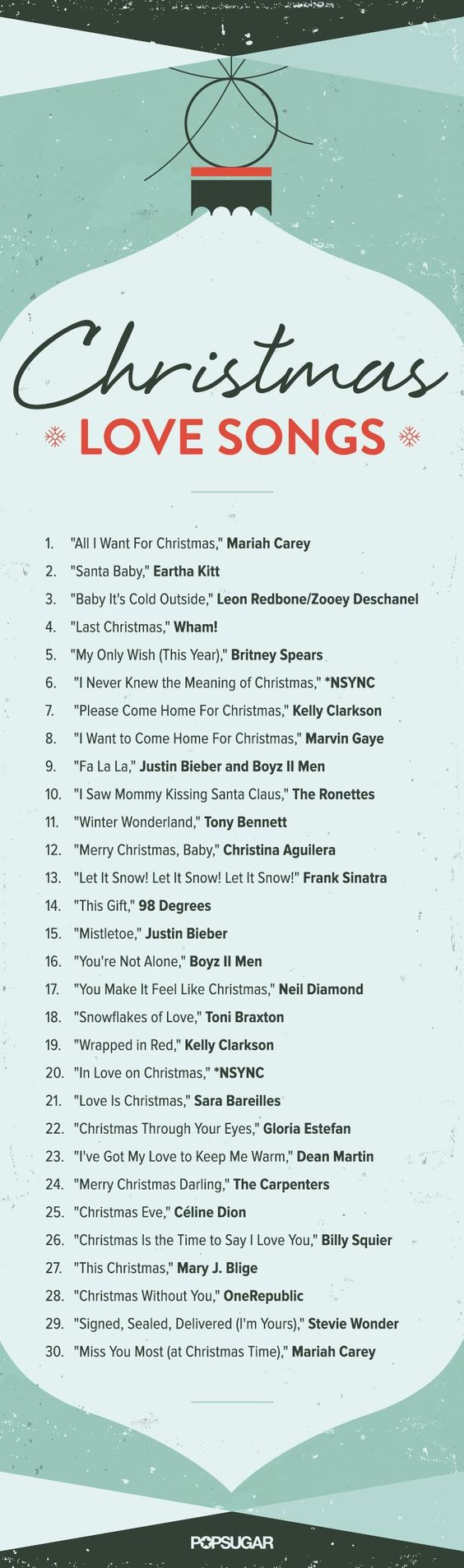 Christmas love songs: listen to the Spotify playlist now!