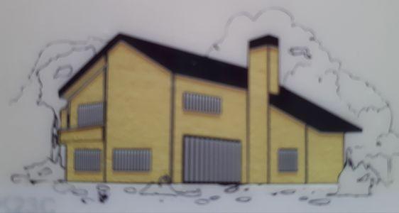 Színek a természetből: K23C weberdeco365 szín családi házon.