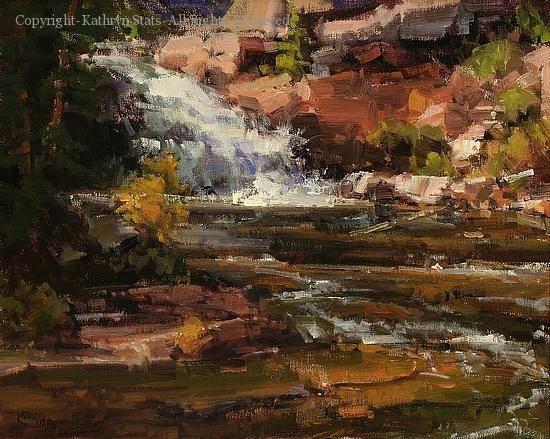 River Falls - Oil by Kathryn Stats, 16x20
