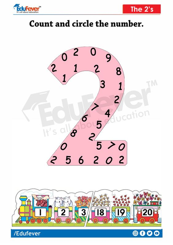 Edufever's interactive LKG Maths Worksheet makes the learning joyful and productive. Parents and Teachers can use this sheet to improve the memory of kid towards the numbers. In this LKG Maths Worksheet, the child has to circle the number 2 embedded in 2 in the sheet. This is more like a game for a kid. Challenge him using this worksheet. To download the complete set of this worksheet, click the link.. #preschoollearning #kindergarten #lkgmathsworksheet #lkgworksheetactivities