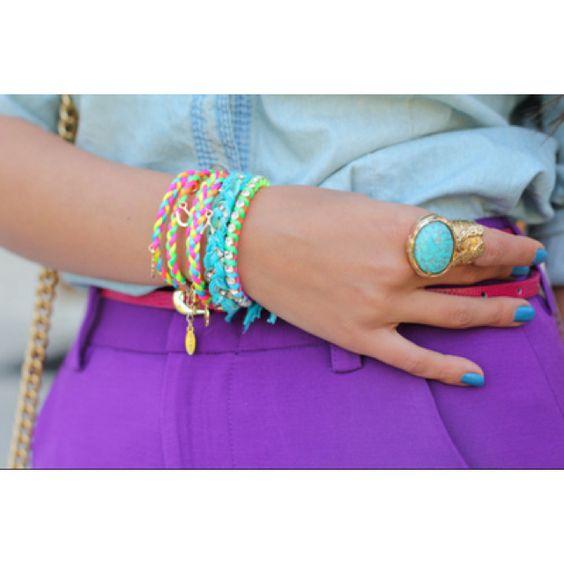 Bague YSL & bracelets brésiliens