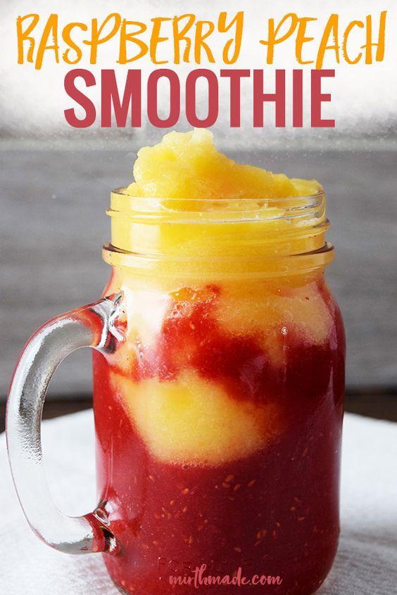 Easy Raspberry Peach Smoothie Recipe