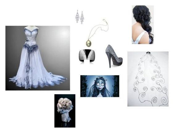"""""""Corpse Bride"""" by insunflower ❤ liked on Polyvore featuring Carolee, CO, Burton, Zara Taylor and Iron Fist"""
