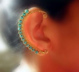 ear wraps: no piercing necessary  that's pretty neat. by Lovelylovely