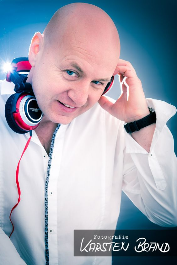 DJ Photography - Portrait of German Party DJ Schorsch. Shooting took 60 minutes (18 different photos).