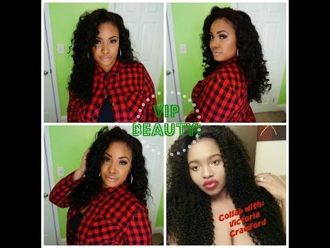 Install & Styling: VIP Beauty Peruvian Loose Wave Collab| Victoria Crawford - YouTube