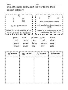 Printables Hard And Soft G Worksheets worksheets on pinterest hard and soft g c worksheet