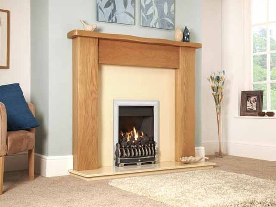 Richmond, Gas Fire, Silver Fascia, Coal Fuel Bed