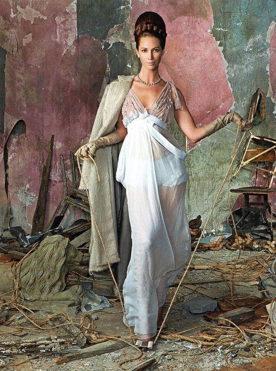Christy Turlington by Steven Meisel for Vogue Italia July 2010