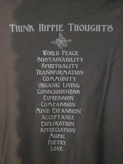 """Imagine ... 40 years ago the """"hippies"""" brought forth words to ponder. These words are all being used once again.... It would have been nice if they were more widespread then & taken more seriously... but, it is not too late. So... read the words... then... just.... ! peace!"""