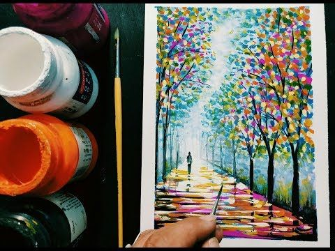 Easy Poster Colour Painting Ideas Step By Step For Beginners Youtube Poster Color Painting Painting Easy Paintings