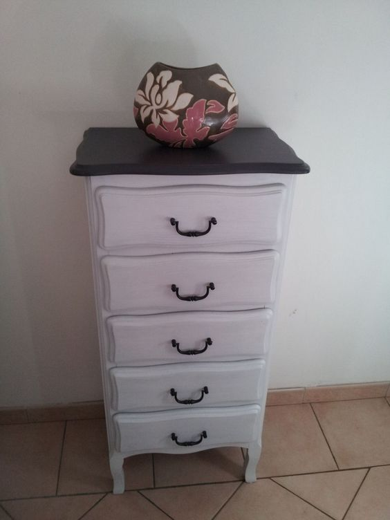 commode chiffonnier relook ebay chiffonnier pinterest ebay. Black Bedroom Furniture Sets. Home Design Ideas