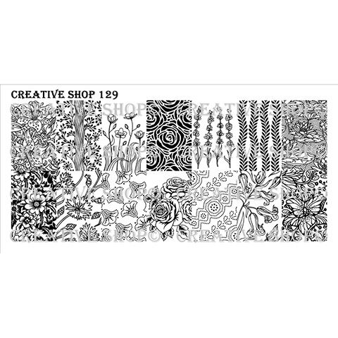 COMING SOON Creative Shop- Stamping Plate- 129