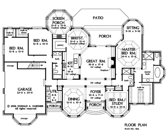 House plan of the week the kenningstone 1166 for One story house plans with bonus room