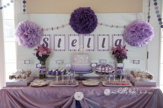 "Photo 1 of 25: Purple Polar Bear 1st Birthday Party / Birthday ""Purple Polar Bear 1st Birthday Party"" 