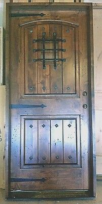 Knotty Alder Front Entry Door 36 X 80 W Speak Easy Rustic Exterior Wood Doors Ebay Very